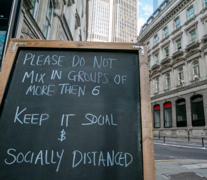 social distancing london