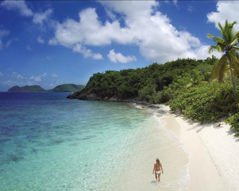 tourist beach United States Virgin Islands