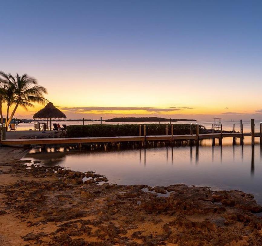 Atlantic beach resort florida beach sunset ocean palm tree dock