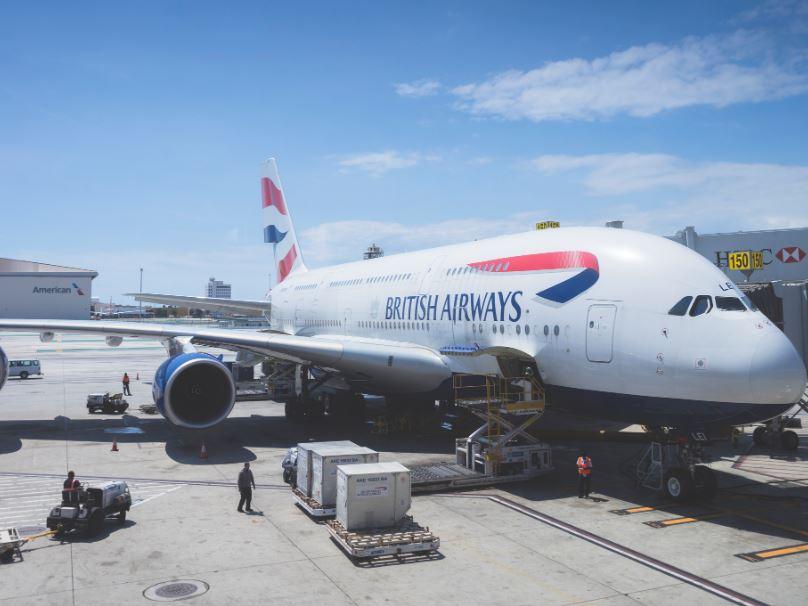 BA british airways plane
