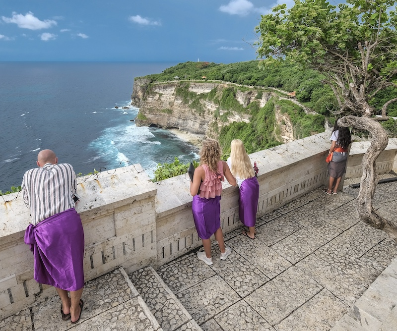 Bali international tourists