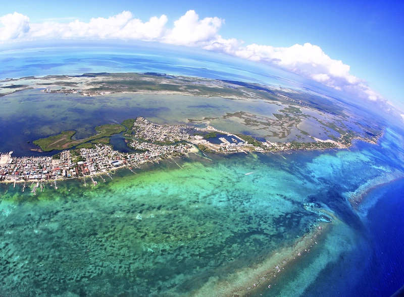 Belize aerial view