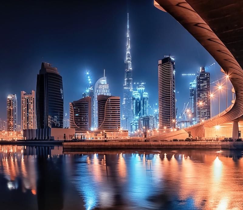 Dubai cityspace night