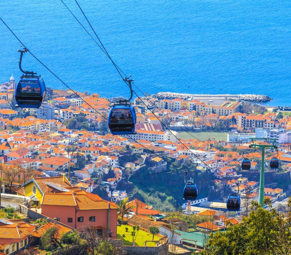 Funchal Madeira Portugal Gondolas