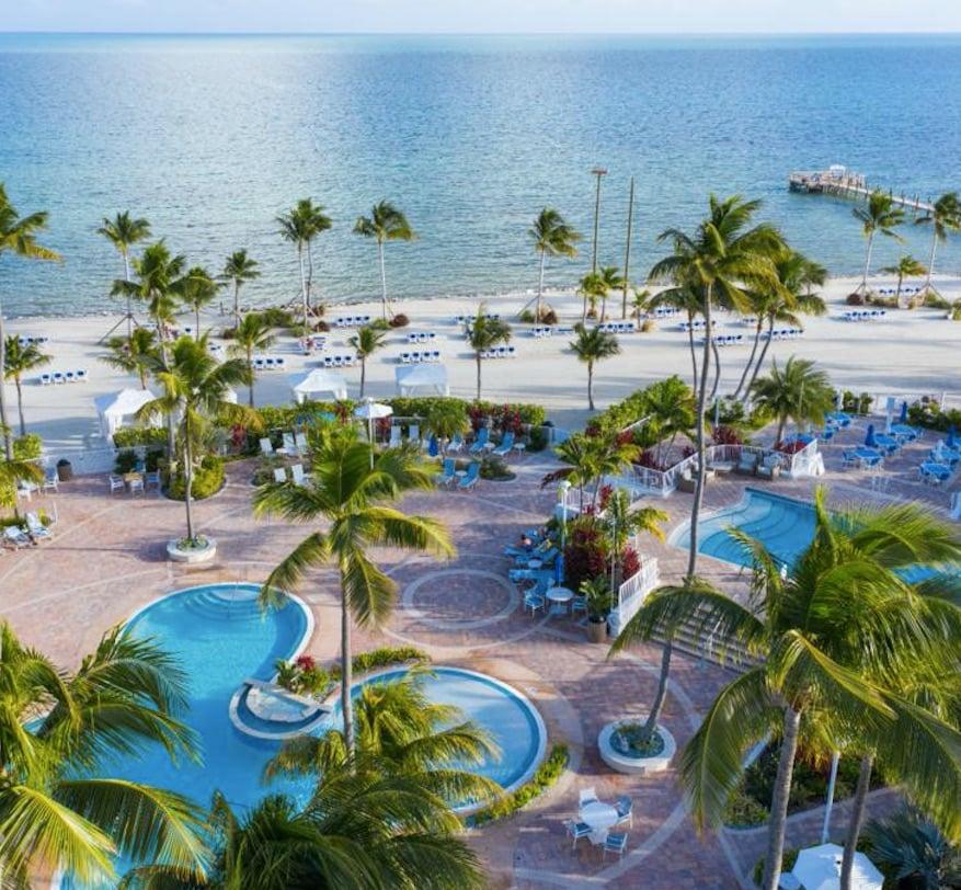 Islander resort florida palm trees ocean pier