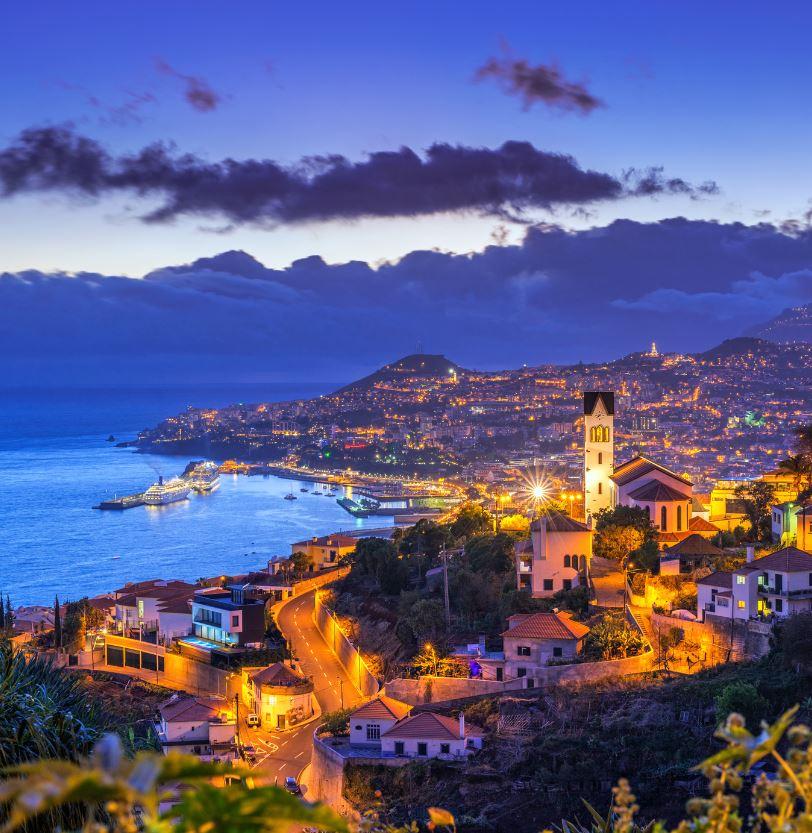 Madeira Portugal at night