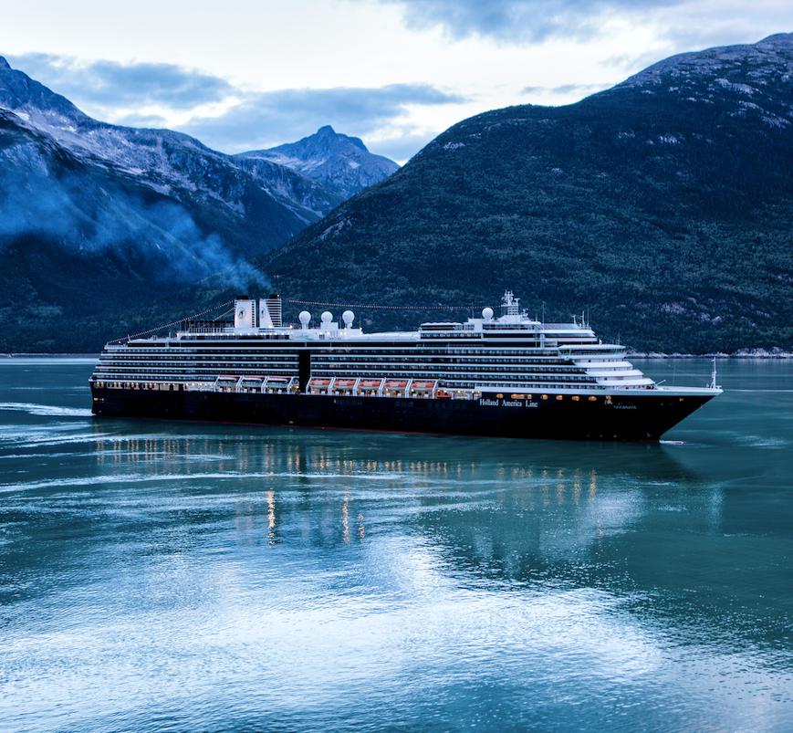 Mountain River Cruise Ship Snow