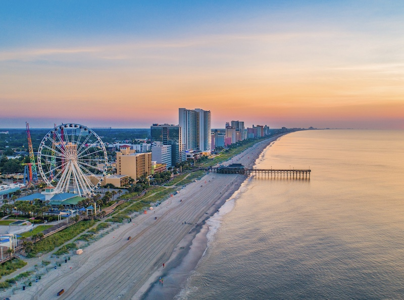 Myrtle Beach South Carolina Drone Skyline Aerial