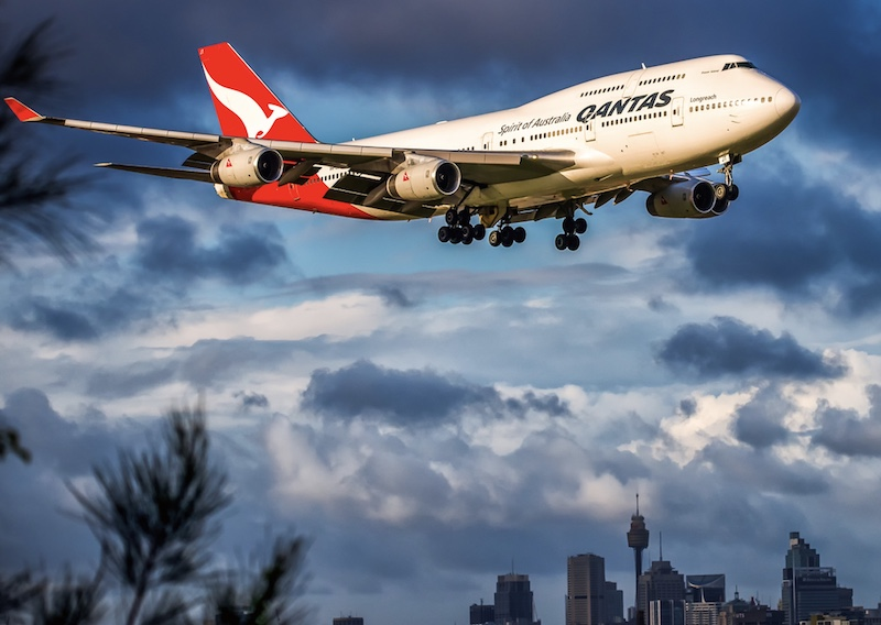 Qantas airplane