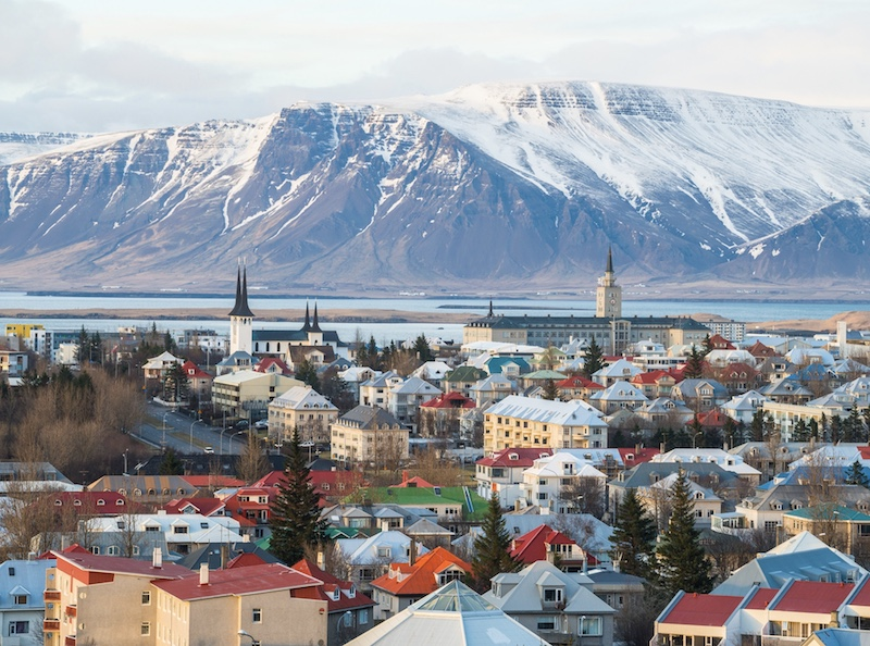 Reykjavik the capital city of Iceland