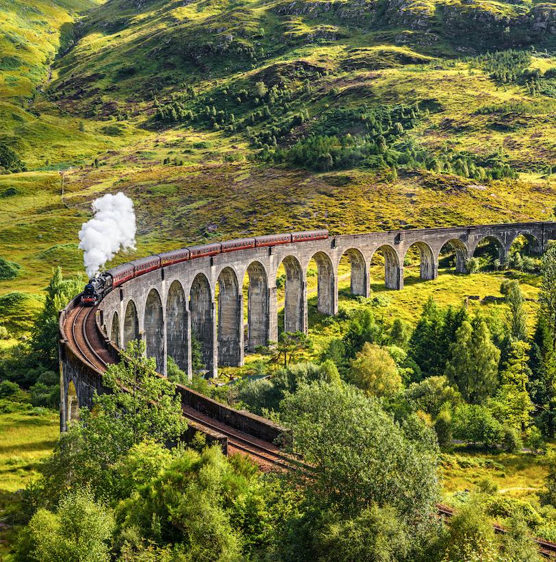 Scotland Railroad Train
