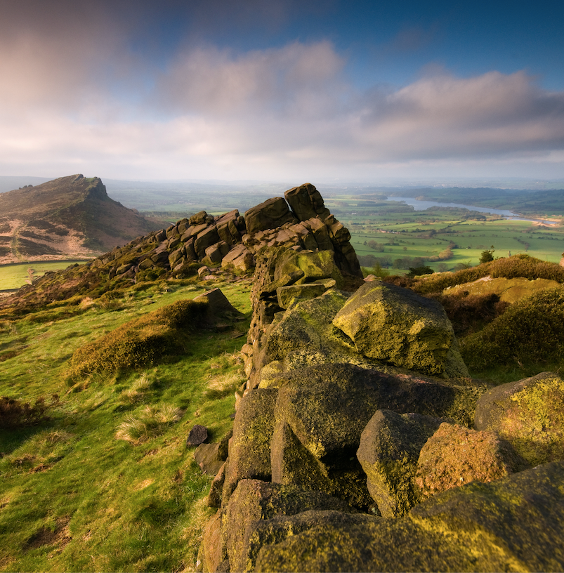 The peak district rock