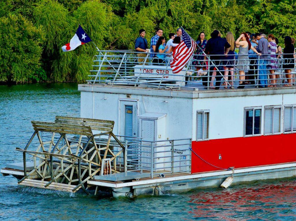 Tourist on Texas Paddleboat