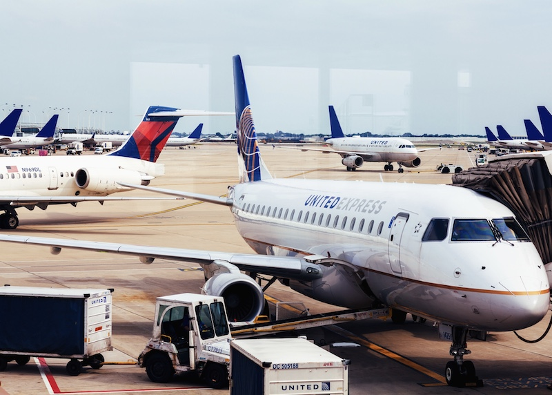 United, Delta airlines