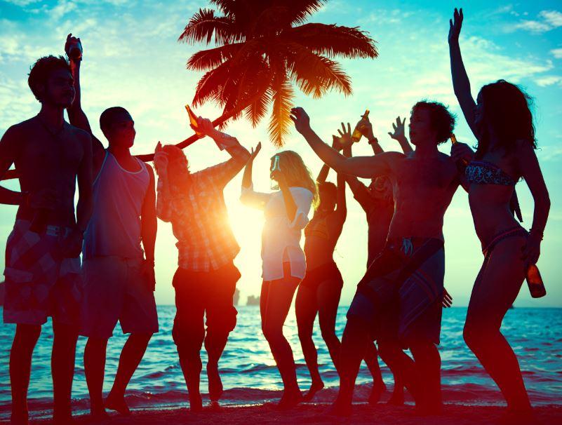 beach part silhouettes