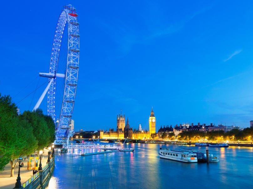 big ben london eye river