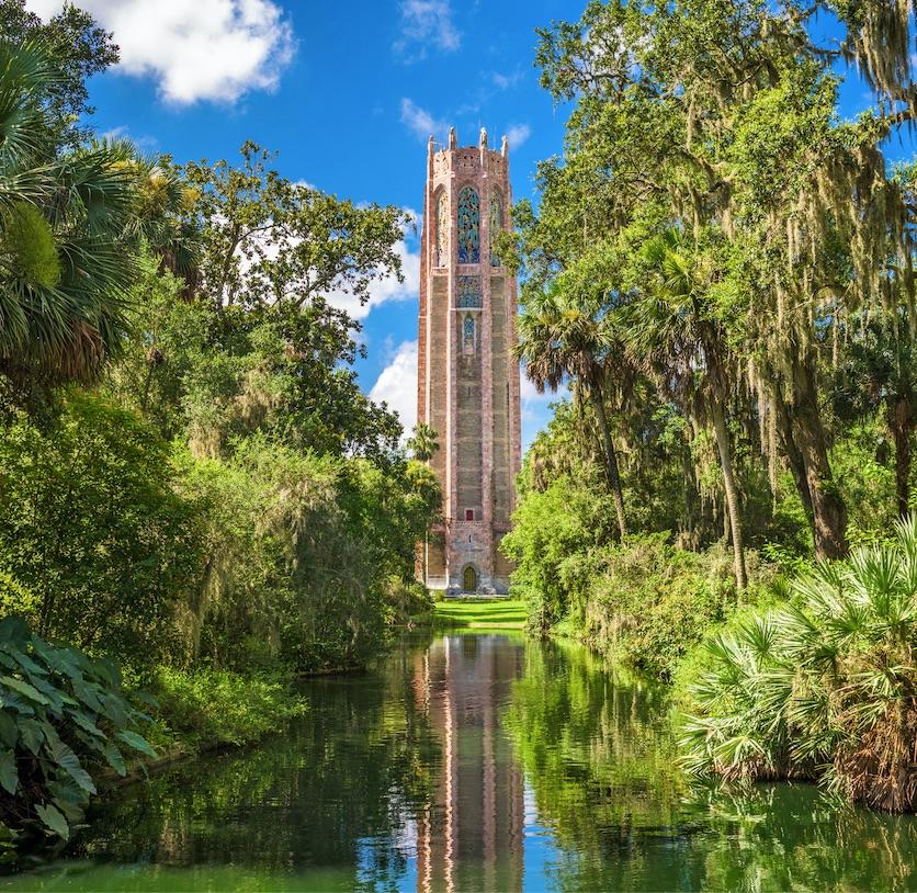 bok tower florida singing gardens river trees