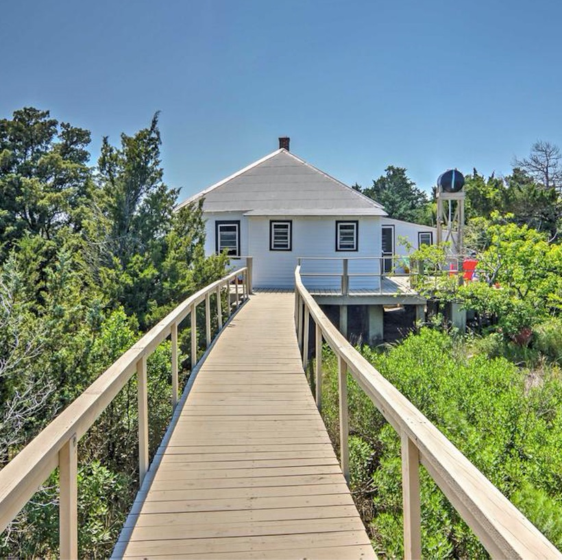 cape charles virginia beach house dock trees