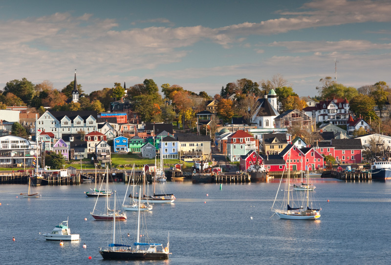 own of Lunenburg, Nova Scotia in the fall.