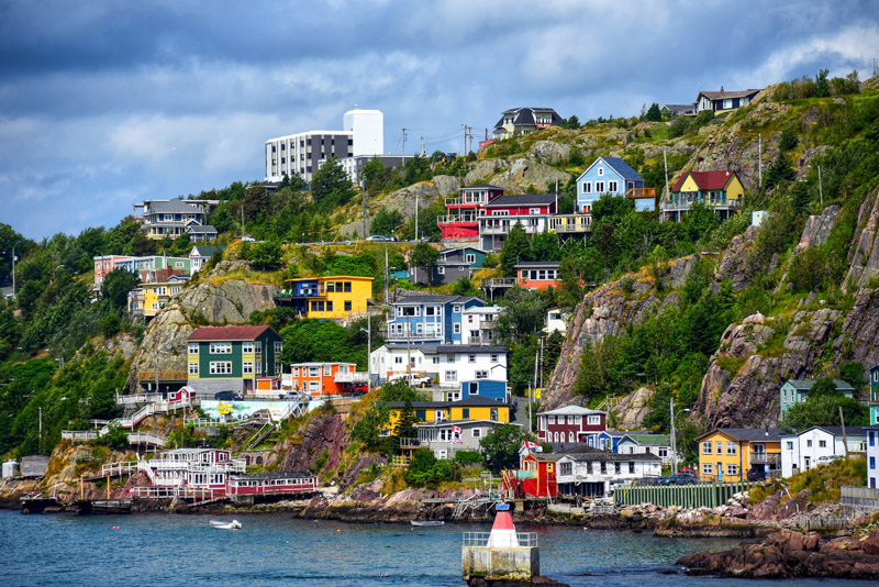 The scenic Battery neighborhood in St. John's, Newfoundland