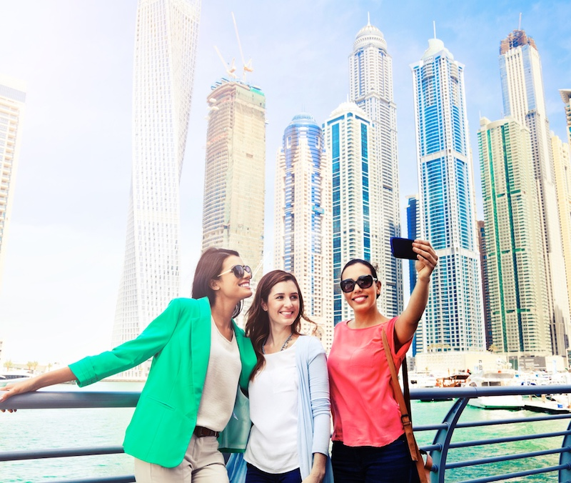 foreign travelers in Dubai
