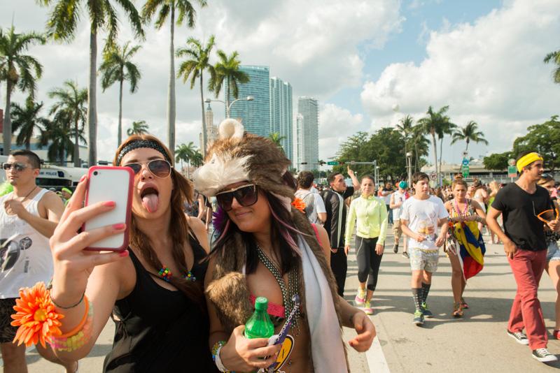 women partying in miami beach