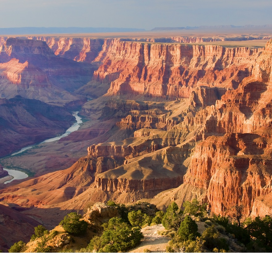 grand canyon arizona rocks river desert