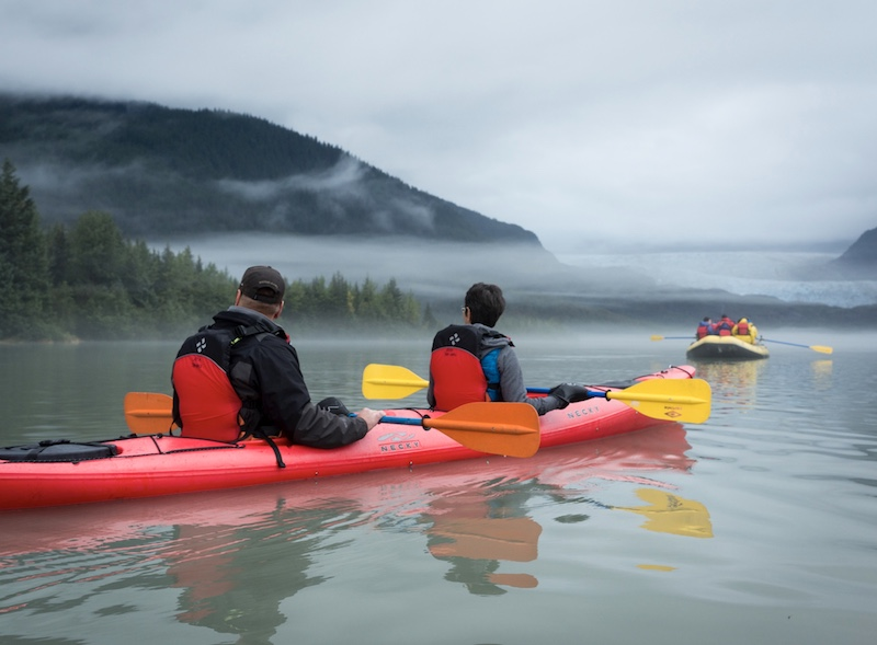 kayaking in Juneau, Alaska