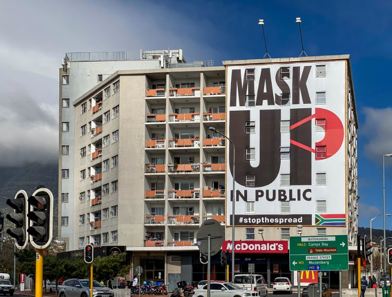 mask up south africa