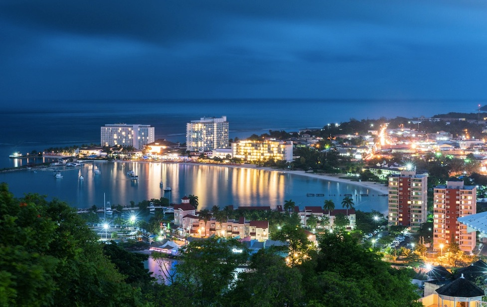 Ocho Rios Jamaica at night