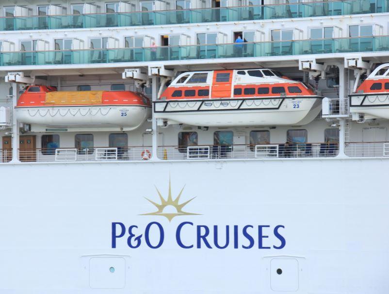 P and O Cruise ship cabins