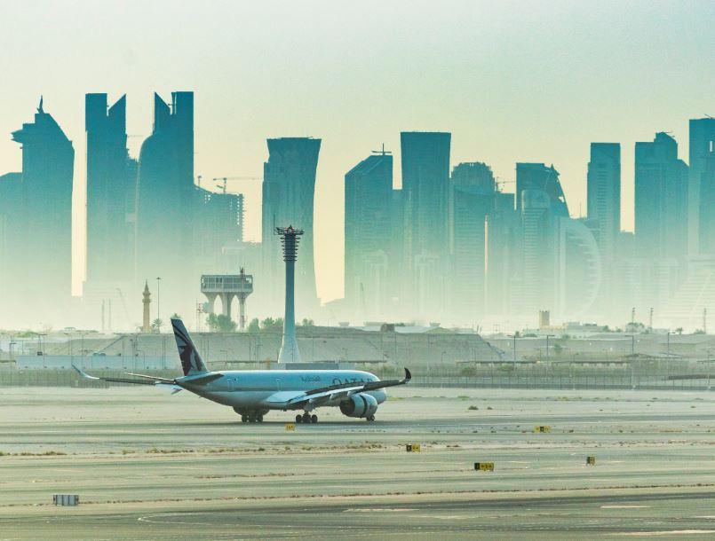 qatar airways doha cityscape