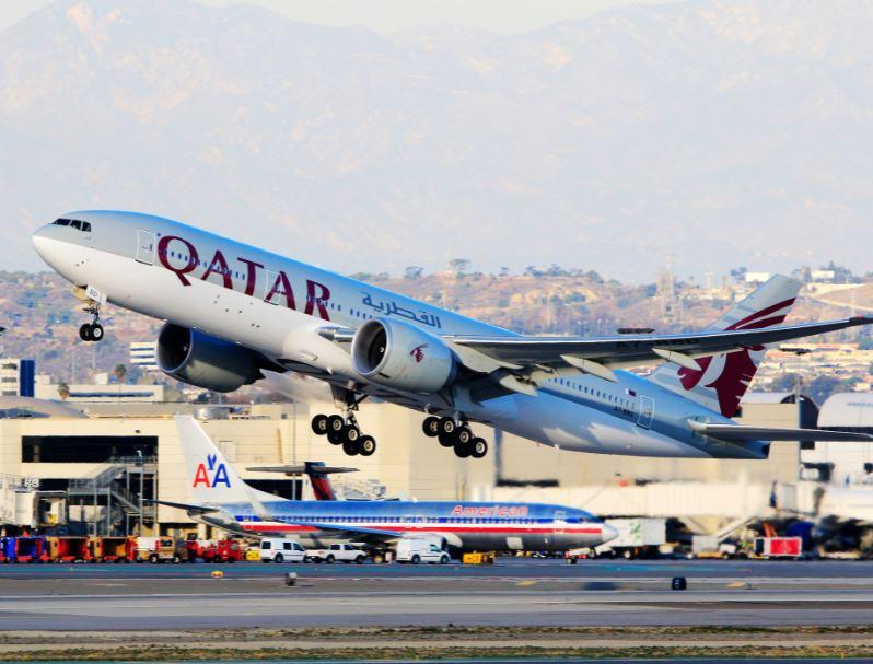 qatar airways take off