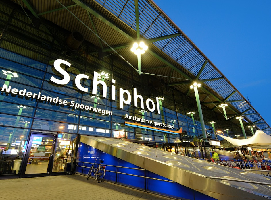 schiphol amd amsterdam airport in the netherlands