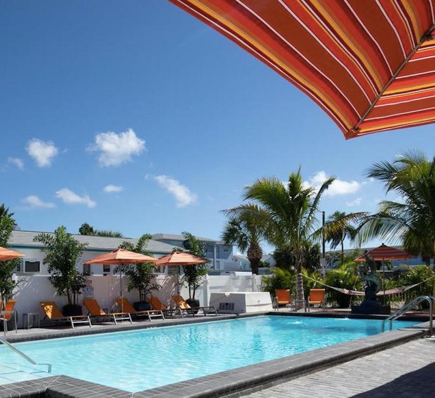 the villas at st pete beach florida pool sun cabana palm tree