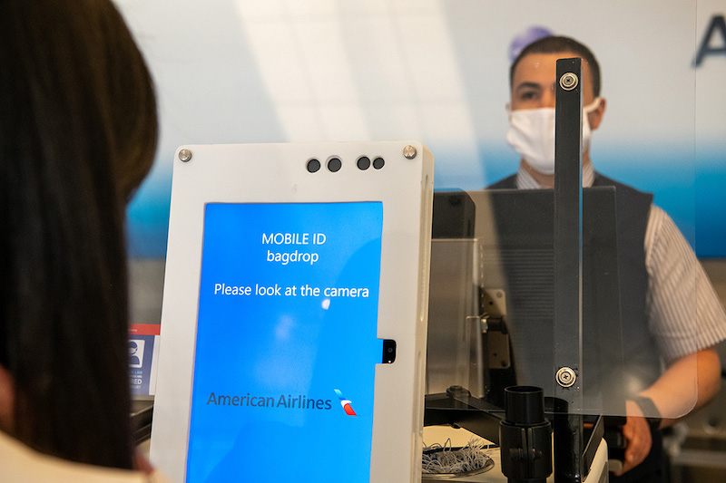 touchless checkin American Airlines