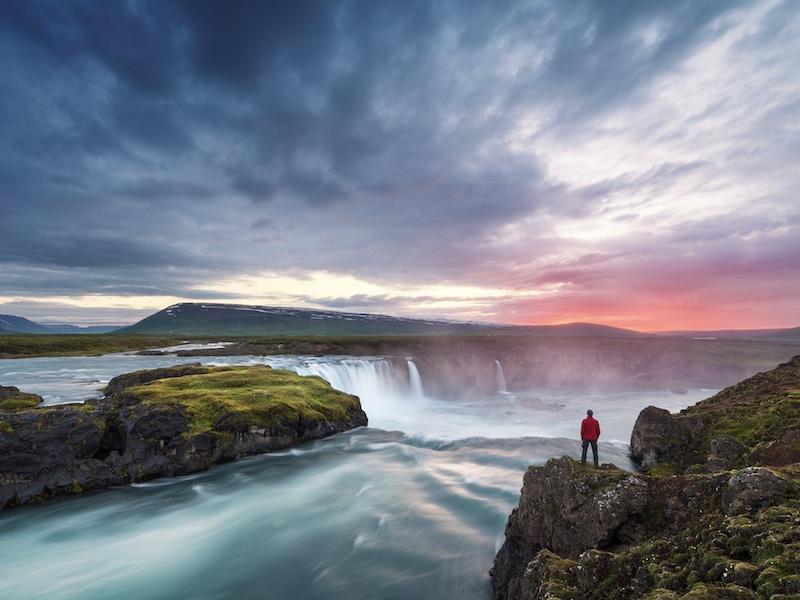 travel landscape in Iceland