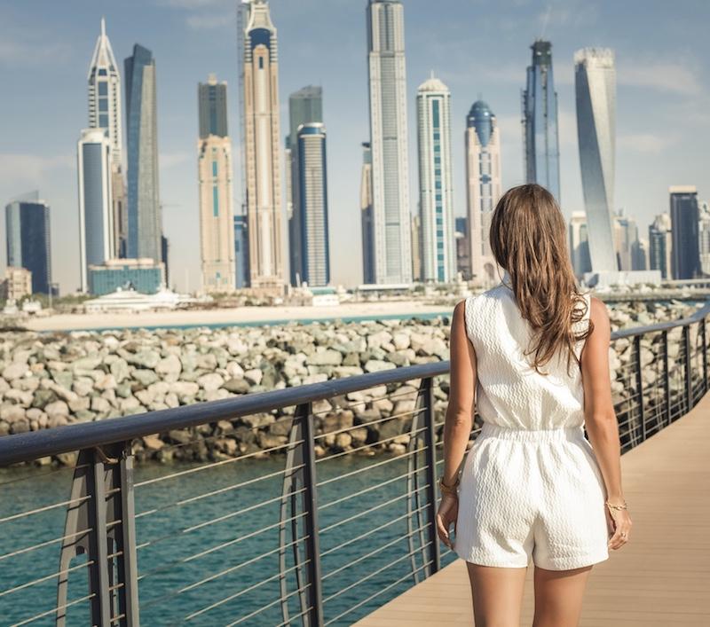 traveler in Dubai city