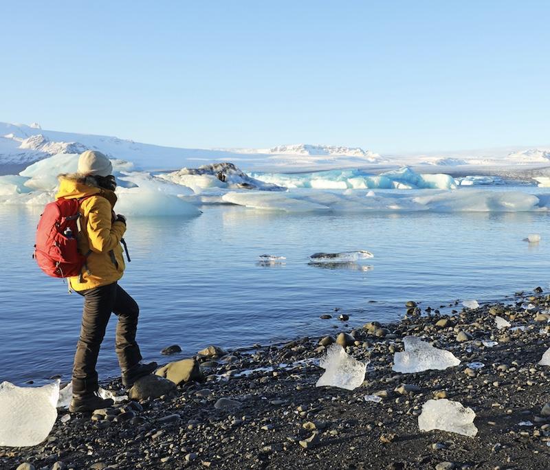 traveler in Iceland