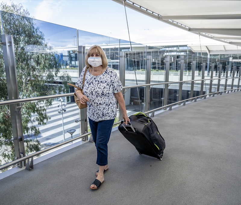 traveling airport mask