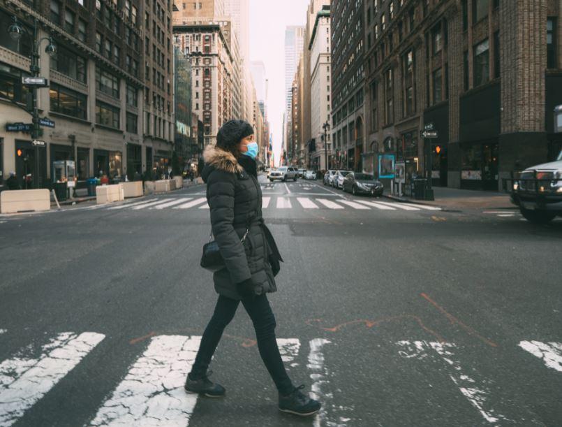 woman mask new york