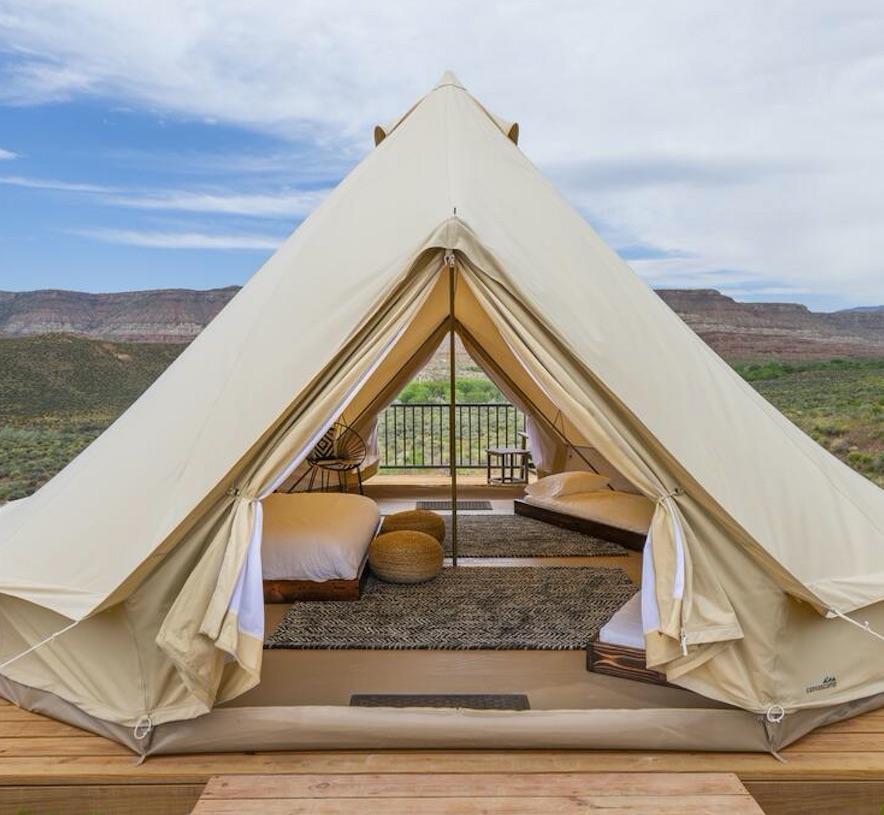 zion wildflower resort utah tent glamping camping