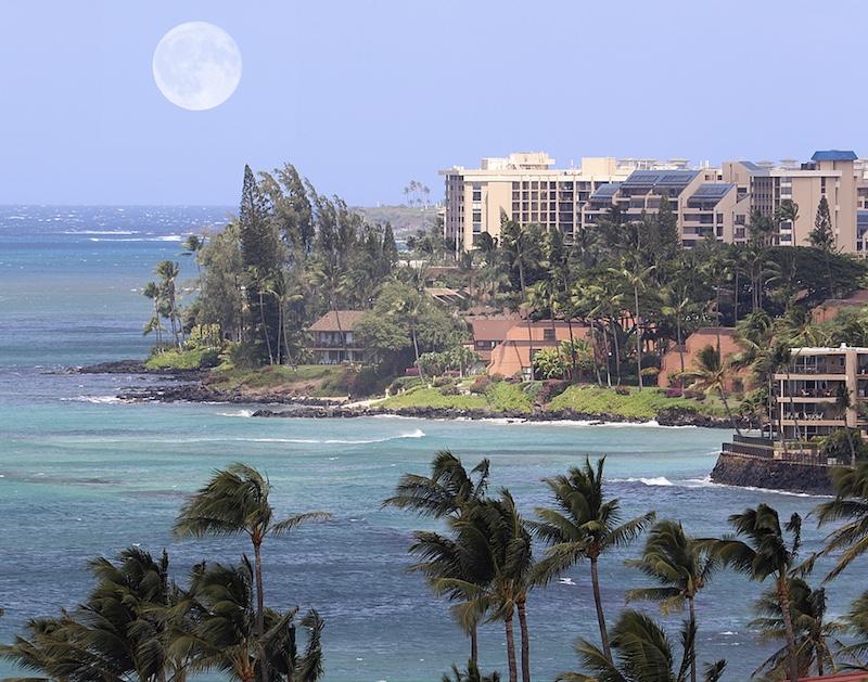 Maui coastline Hawaii