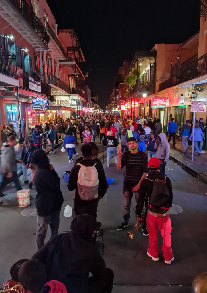 New Orleans Bourbon Street Druing Covid-19 Pandemic