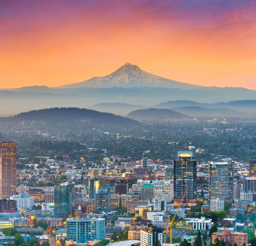 Portland Oregon City View