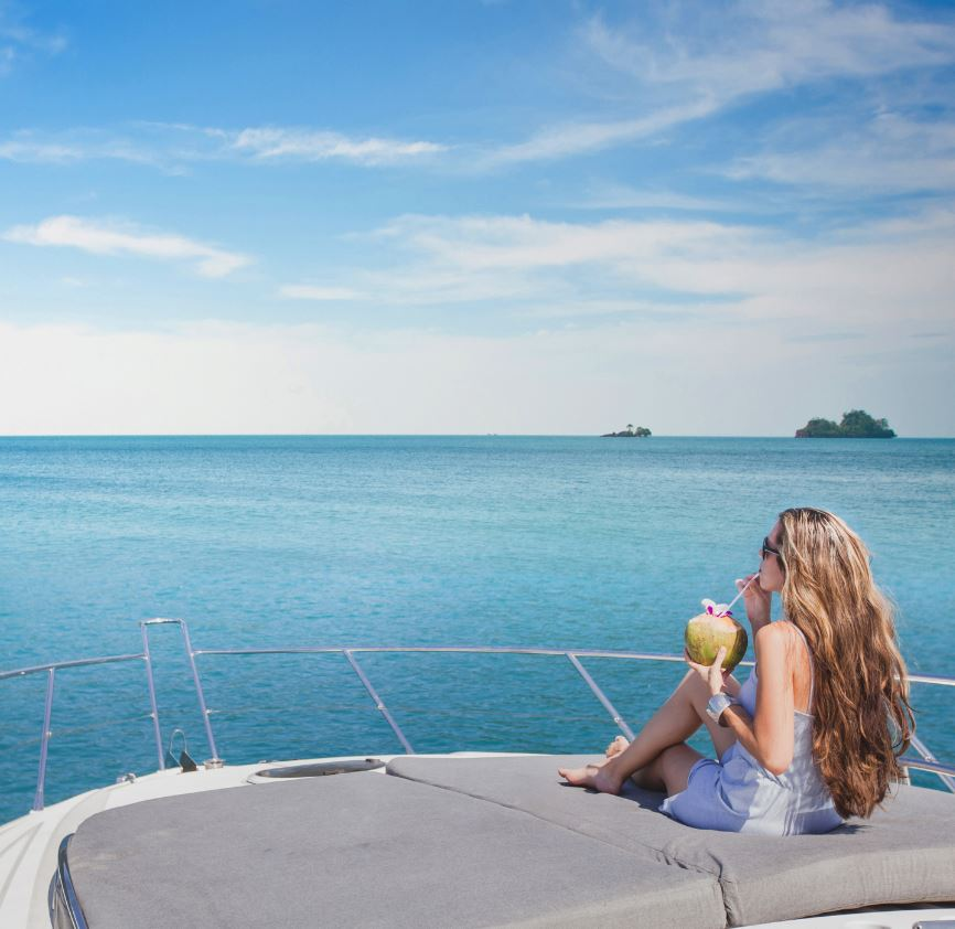 Woman on Yacht in Thailand