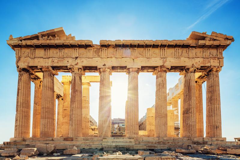 The Parthenon in Athens, Greece.