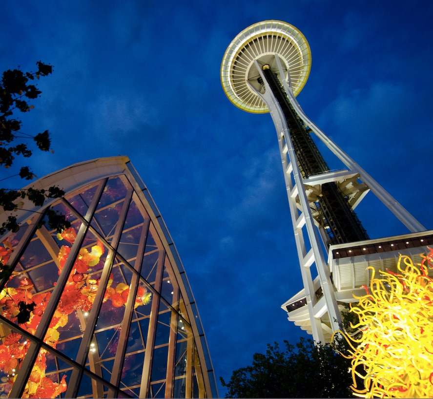 chihuly glass seattle space needle