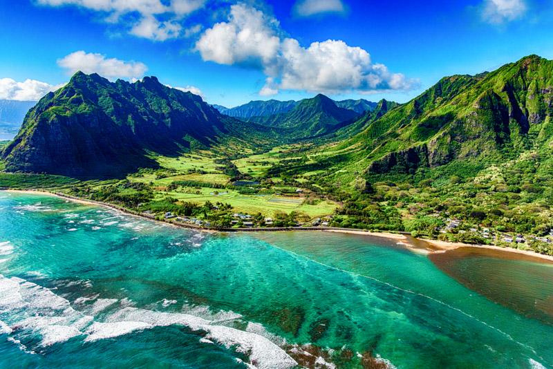 landscape of coastal Oahu, Hawaii