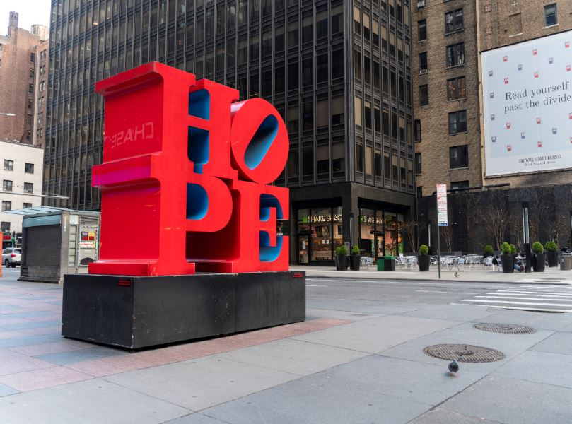 hope sculpture manhattan